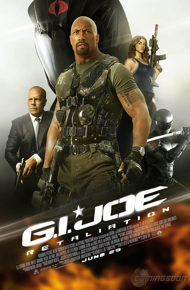 Disponible el póster final pero poco original de 'G.I. Joe: Retaliation'