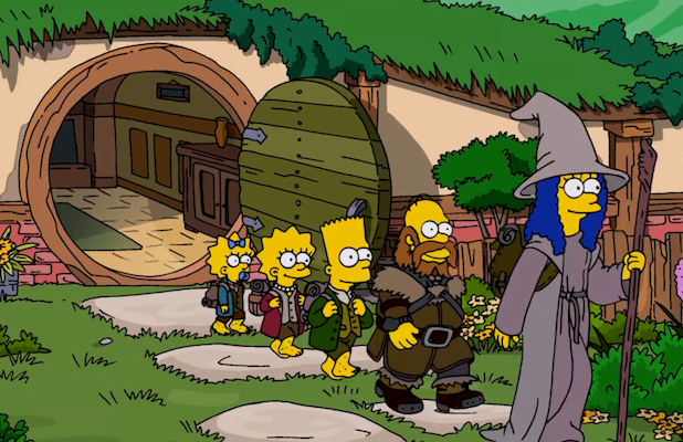 La intro de 'Los Simpsons' parodia 'El Hobbit'