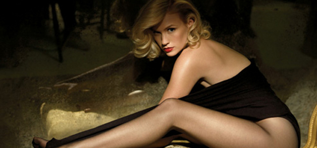 January Jones habla de su amor lésbico en una ardiente sesión de fotos