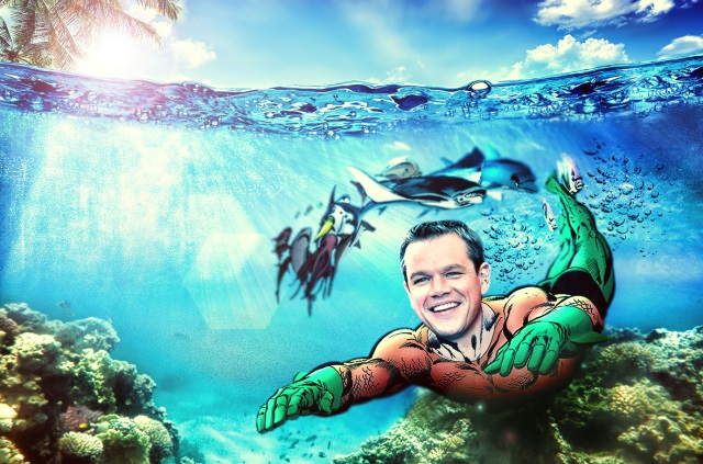 ¿Matt Damon como Aquaman?