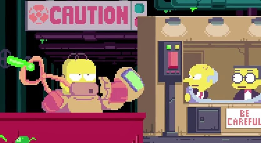Increíble vídeo de la intro de 'Los Simpsons' en Pixel Art