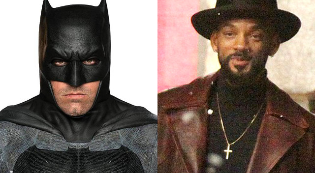 Nuevas fotos de Ben Affleck como Batman y Will Smith como Deadshot
