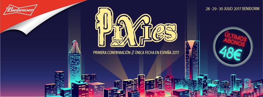 Pixies como primera gran confirmación de Low Festival 2017