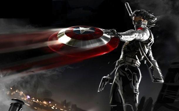 Sebastian Stan se deja ver con el escudo de Capitán América