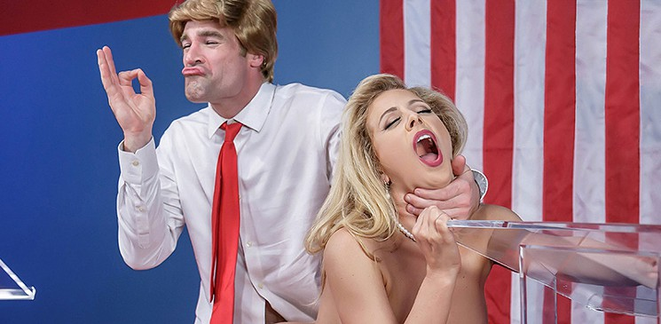 Parodia porno de Donald Trump contra Hillary Clinton