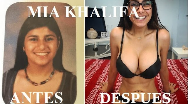 Actrices porno antes y después de ser famosas