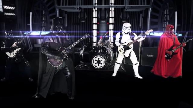 Alucina con la banda metal de Star Wars