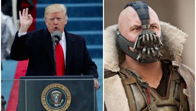 Donald Trump cita a Bane en su discurso como nuevo presidente
