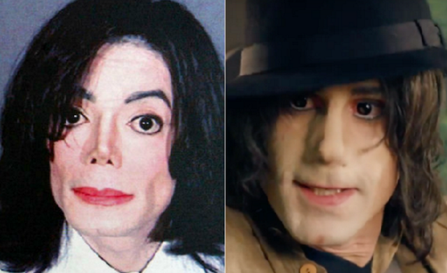 El actor blanco que interpreta a Michael Jackson