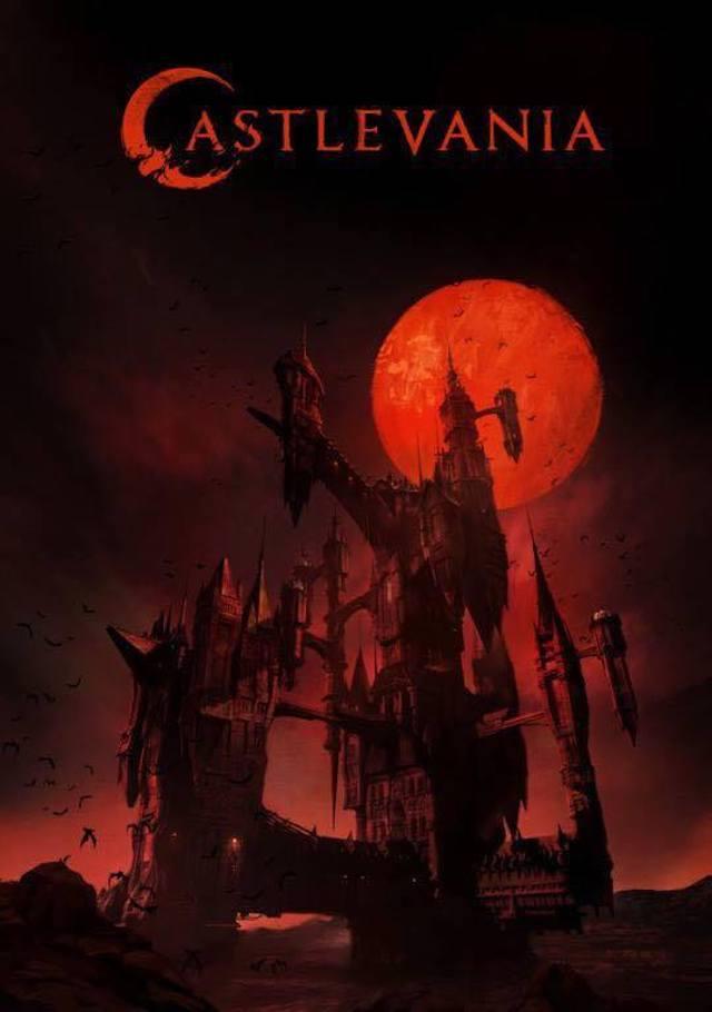 Sangriento primer póster de la serie de Castlevania