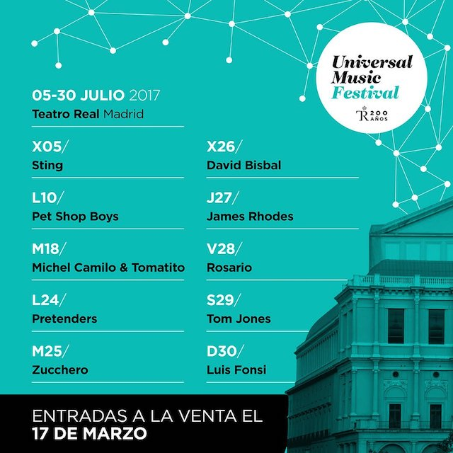 Pet shop boys, Tom Jones, Sting y Pretenders en Universal Music Festival