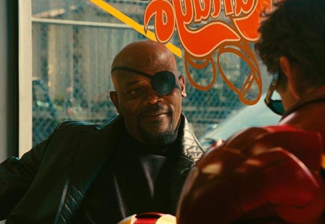 Iron Man y Nick Furia frente a frente en el set de Avengers: Infinity War