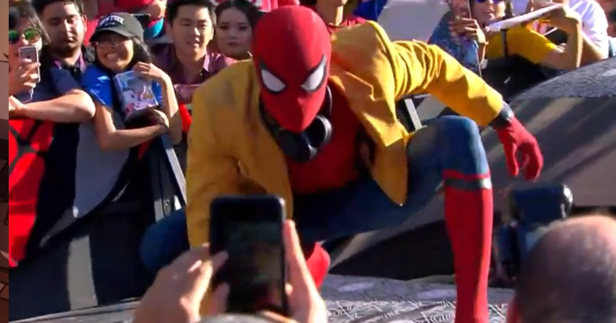 Vídeo de Tom Holland en el estreno de 'Spider-Man: Homecoming'