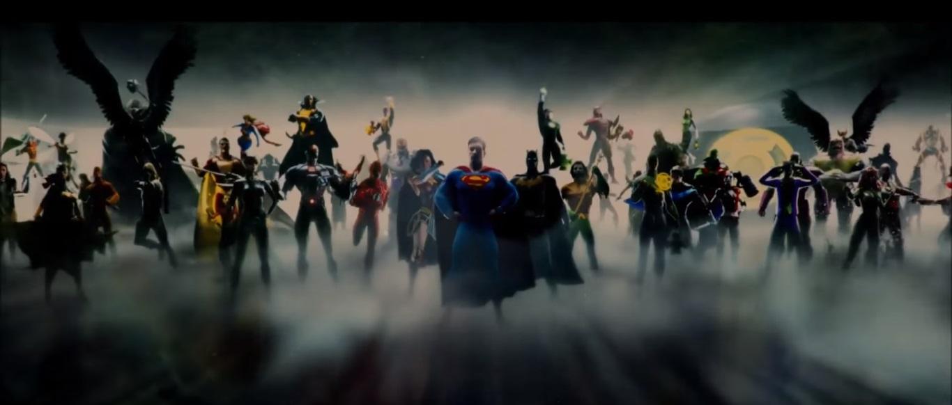 Todos Los Personajes De La Intro De La Liga De La Justicia