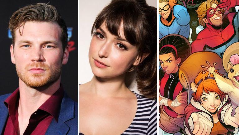 Todos los actores de los Nuevos Guerreros de Marvel y sus personajes