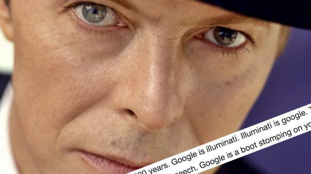La advertencia profética de David Bowie sobre Google y los Illuminati