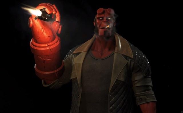 Hellboy contra La Liga de la Justicia en Injustice 2