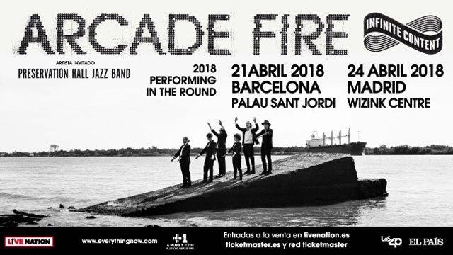 Arcade Fire visitarán Madrid y Barcelona la próxima primavera