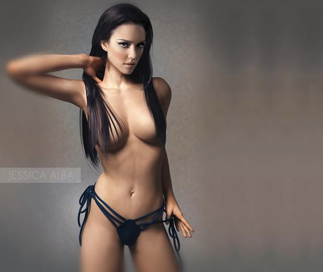 Jessica Alba desnuda, una madre ejemplar