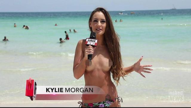 Kylie Morgan desnuda, la reportera total