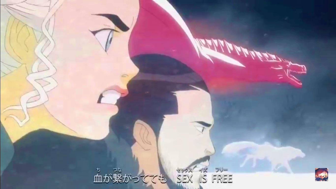 Increíble vídeo del anime de Juego de Tronos