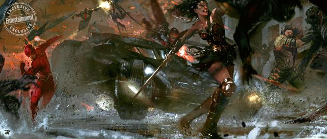 Justice League: alucinante arte conceptual inédito de la película