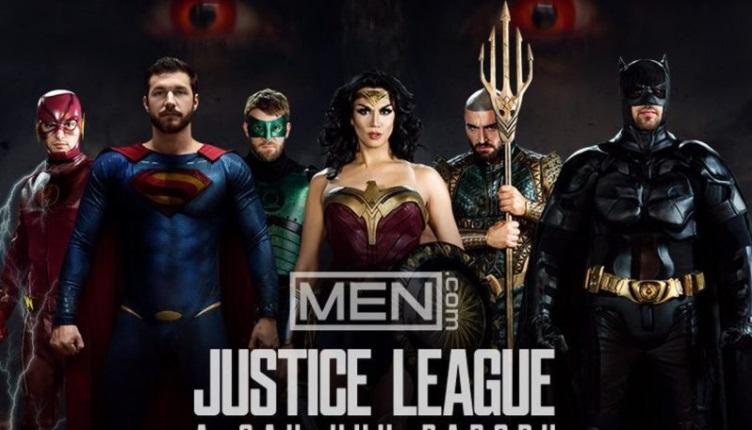 la liga dela justicia porno gay trailer