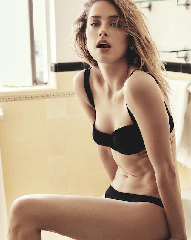 Amber Heard desnuda, lista para mojarse en DC