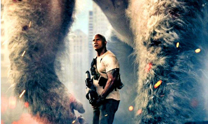 Filtrado el trailer de Rampage, los monstruos de The Rock