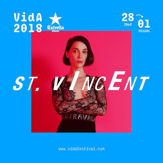 St. Vincent, cabeza de cartel del VIDA 2018