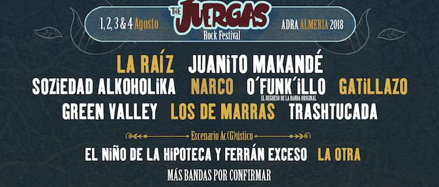 The Juergas Rock Festival reventará Almería este verano
