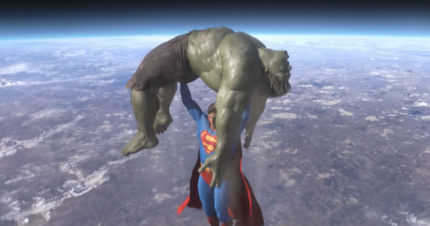 La brutal pelea entre Superman y Hulk que nunca se ha visto