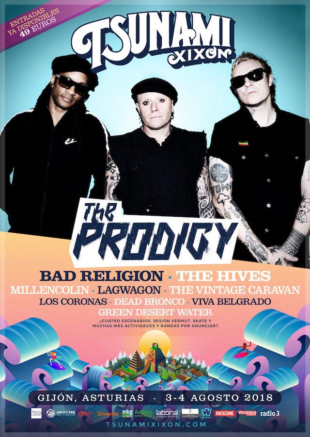 The Prodigy nuevo cabeza de cartel del Tsunami Xixón 2018