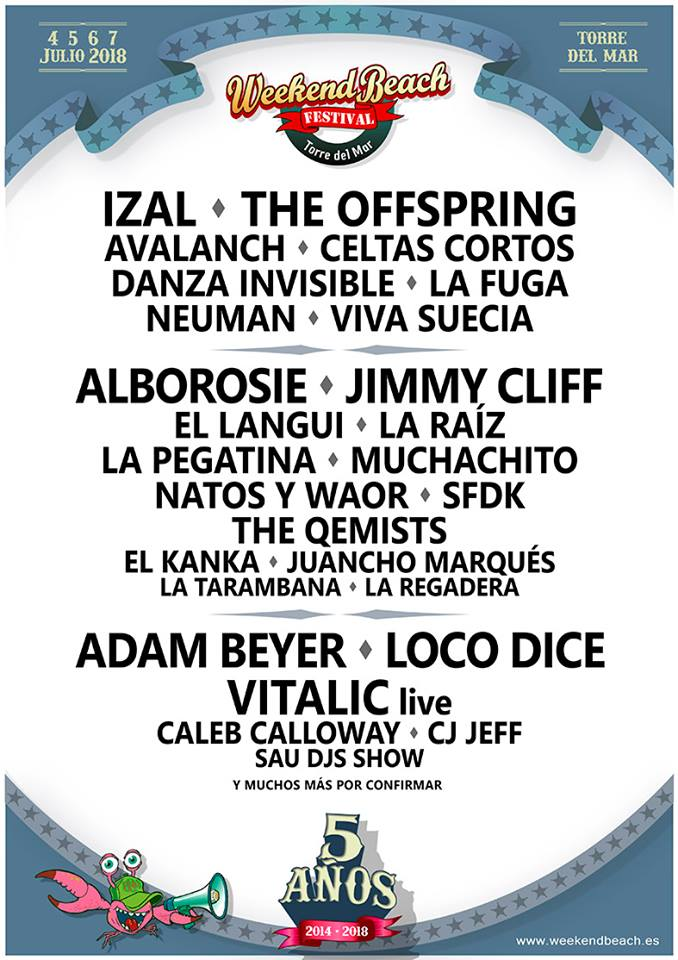 Weekend Beach Festival Torre del Mar cierra su cartel