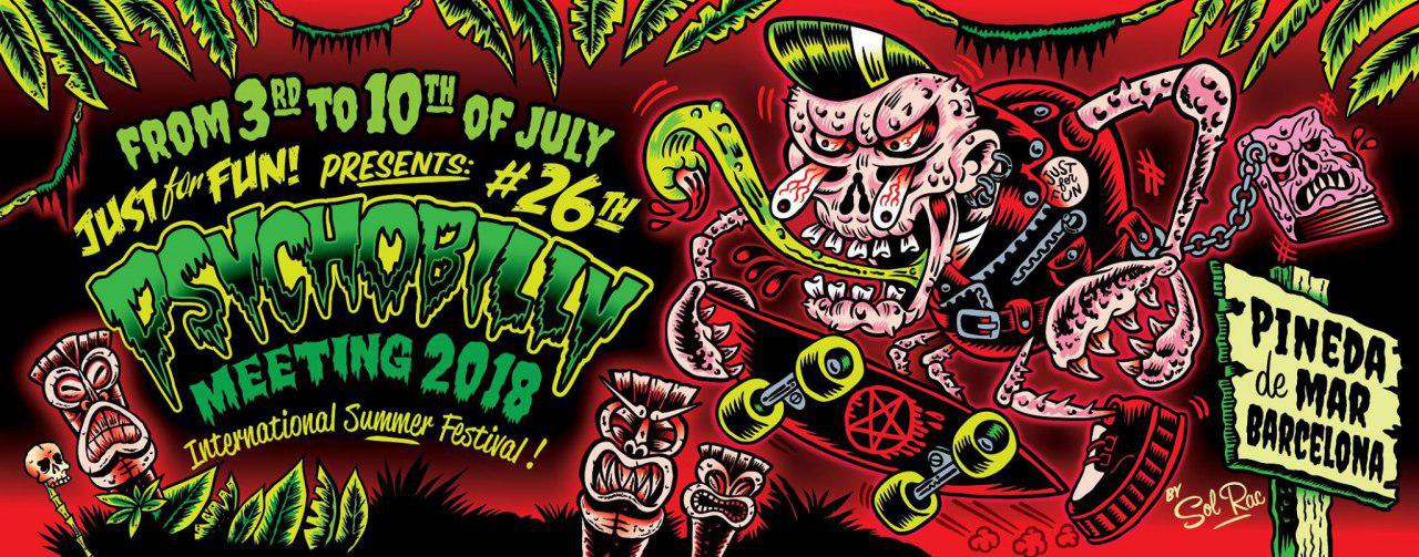 Cartel definitivo de Psychobilly Meeting 2018