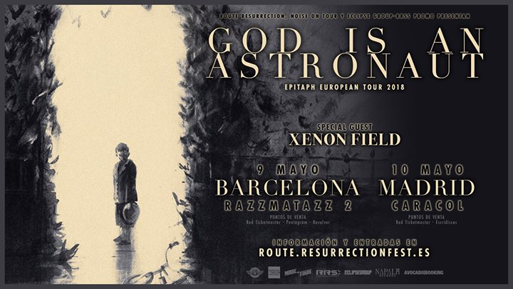 GOD IS AN ASTRONAUT en Barcelona y Madrid en mayo