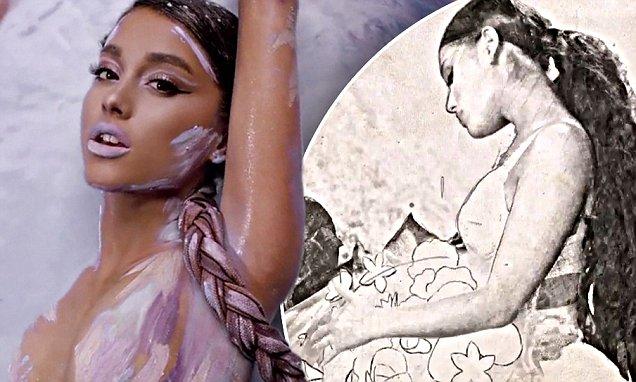Los pechos de Ariana Grande desnuda en Instagram