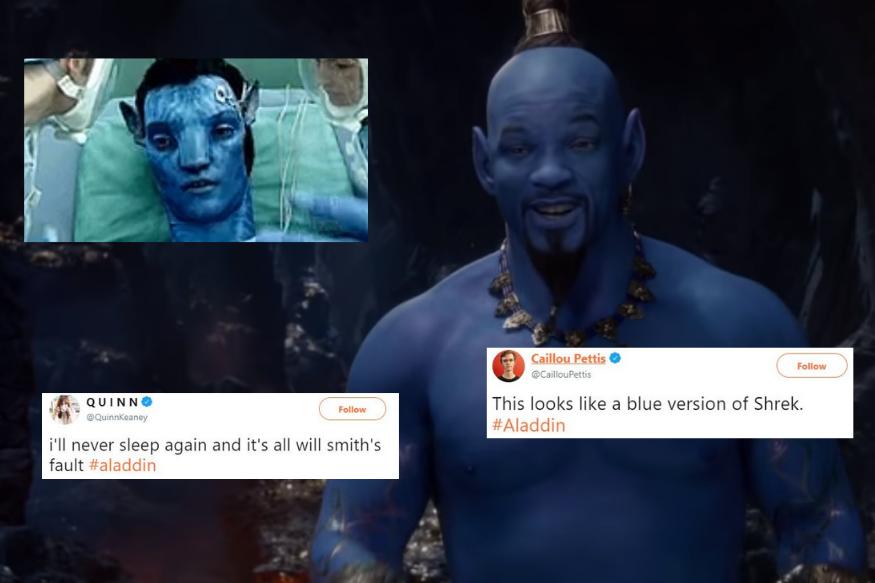 El primer vistazo de Will Smith como el genio de Aladdin desata internet