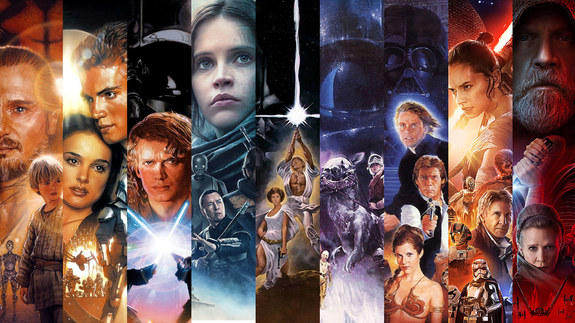 Descomunal video trailer con todas las películas de Star Wars