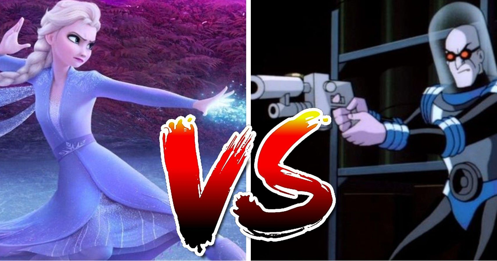 Elsa de Frozen vs Mr. Freeze