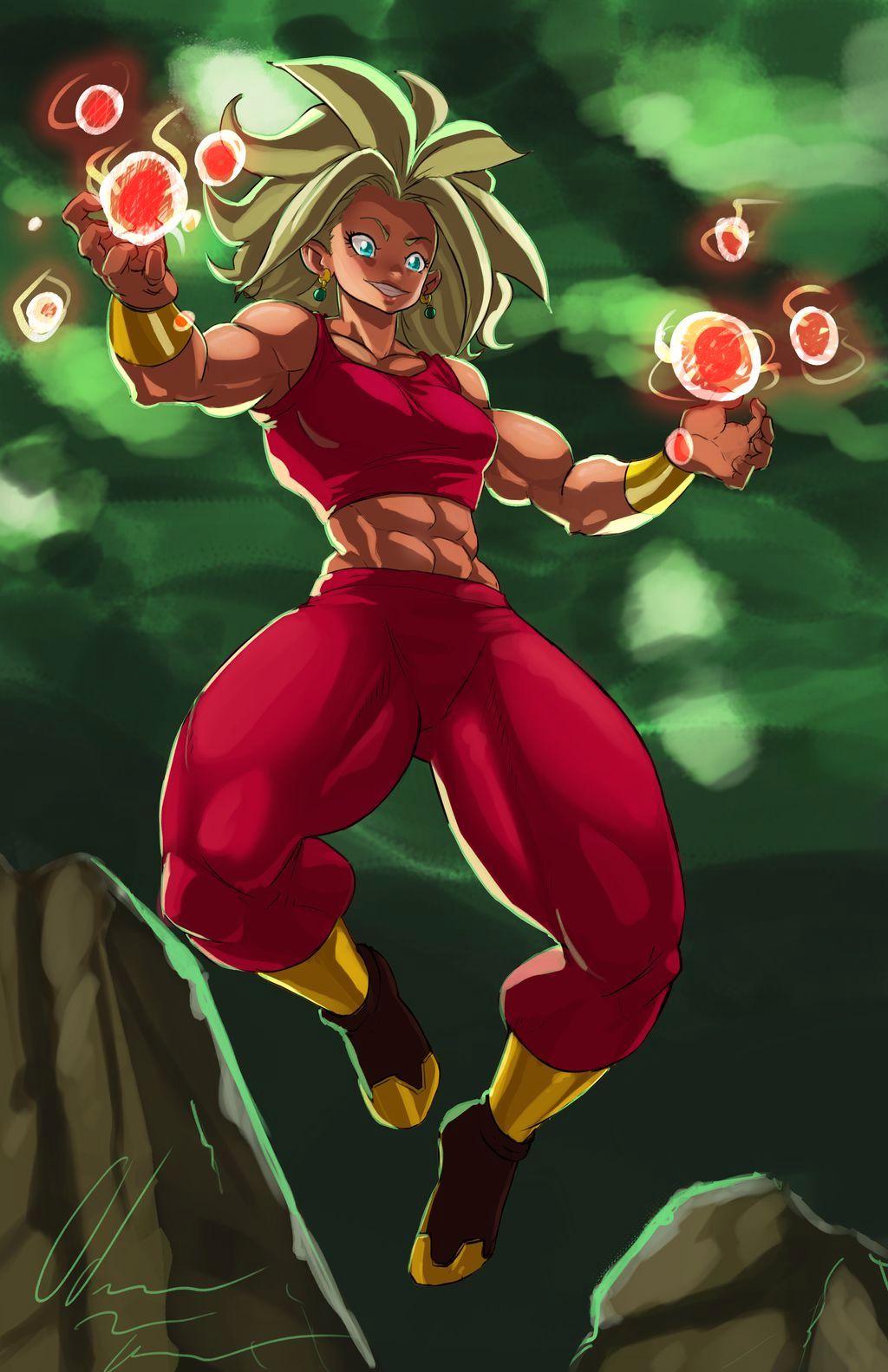 Kefla (normal Super Saiyan color) stand alone by