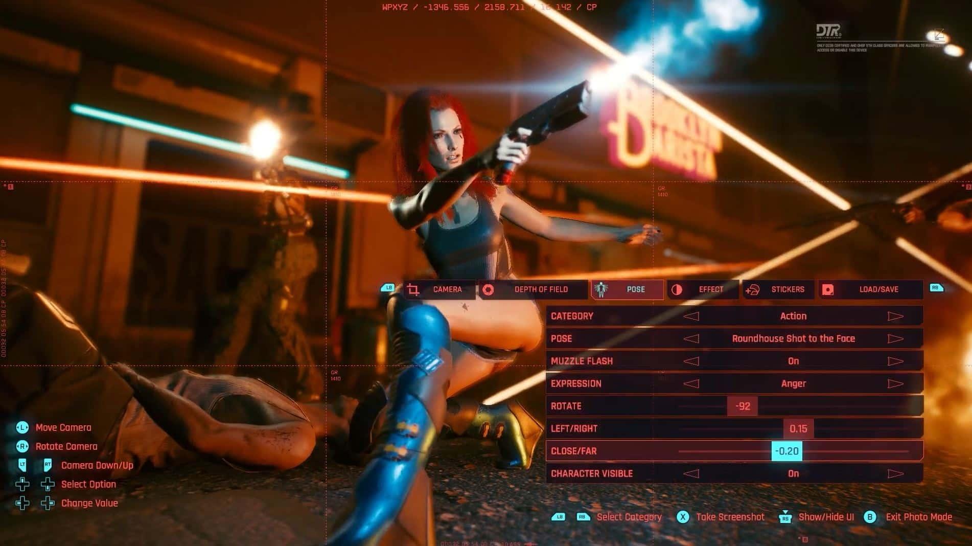 ,Cyberpunk 2077: Revelado el nuevo Modo FOTO Modo de fotografía Cyberpunk 2077 (Fuente: Cyberpunk 2077 en YouTube)