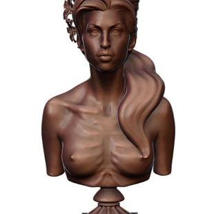 Amy Winehouse, esculpida con los pechos al aire